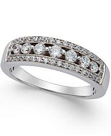 Diamond Seven-Stone Band (1/2 ct. t.w.) in 14k White Gold