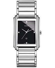 Rado Men's Swiss Integral Diamond Accent Stainless Steel Bracelet Watch 31mm R20997713