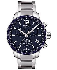 Men's Swiss Chronograph Quickster Stainless Steel Bracelet Watch 42mm T0954171104700