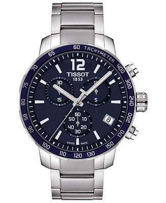 Tissot Men's Swiss Chronograph Quickster Stainless Steel T0954171104700