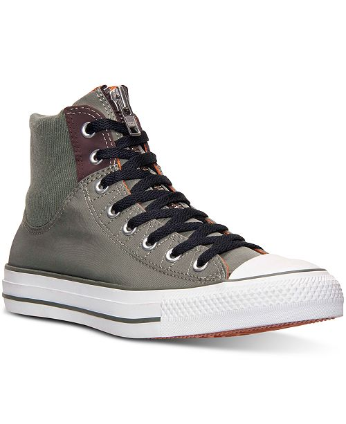 942333a5f2ae ... Converse Men s Chuck Taylor All Star Hi MA-1 Zip Casual Sneakers from  Finish ...
