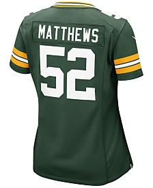Nike Women's Clay Matthews Green Bay Packers Game Jersey