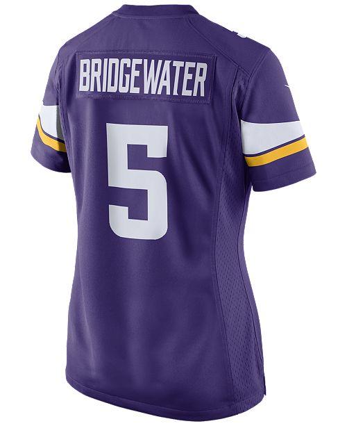 4f820065a Nike Women s Teddy Bridgewater Minnesota Vikings Game Jersey ...