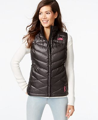 The North Face Aconcagua Pink Ribbon Puffer Vest - Jackets - Women ...