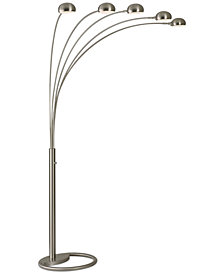 Nova Lighting Mushroom 5 Light Steel Arc Floor Lamp
