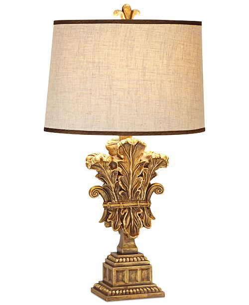Pacific Coast CLOSEOUT! Romantic Palace Wood & Metal Table Lamp