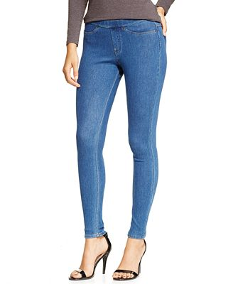 HUE® Original Denim Leggings, A Macy's Exclusive ...