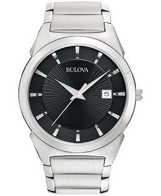 Bulova Men's Stainless Steel Bracelet Watch 38mm 96B149