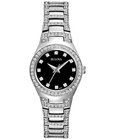 Women's Crystal Stainless Steel Bracelet Watch 25mm 96L170