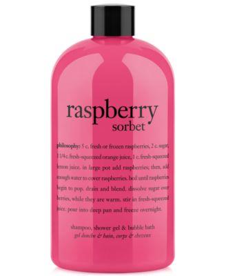 raspberry sorbet ultra rich 3-in-1 shampoo, shower gel and bubble bath, 16 oz