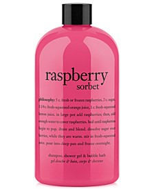 raspberry sorbet ultra rich 3-in-1 shampoo, shower gel and bubble bath, 16 oz