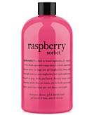philosophy raspberry sorbet ultra rich 3-in-1 shampoo shower gel and bubble bath 16 oz