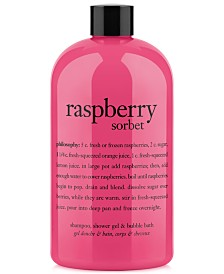 philosophy raspberry sorbet ultra rich 3-in-1 shampoo, shower gel and bubble bath, 16 oz