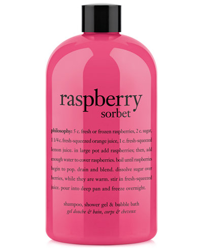 Raspberry Sorbet Ultra Rich 3 In 1 Shampoo Shower Gel And Bubble Bath 16 Oz