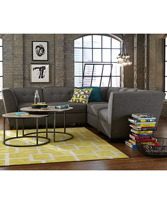 harper fabric modular collection, created for macy's - furniture