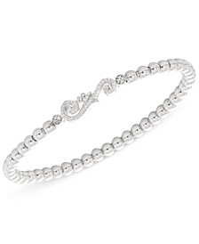 Diamond Accent Swirl Stretch Bracelet in Sterling Silver, Created for Macy's