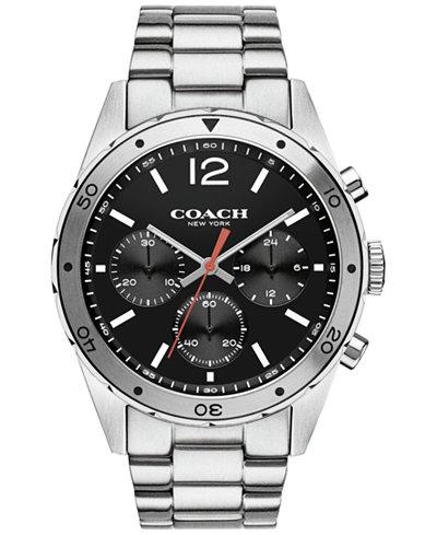coach men s chronograph sullivan sport stainless steel bracelet coach men s chronograph sullivan sport stainless steel bracelet watch 44mm 14602034 macy s exclusive