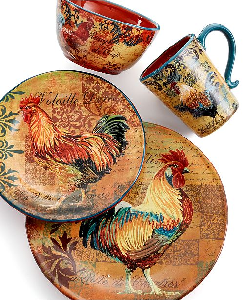 Certified International Rustic Rooster Dinnerware Collection ...