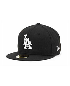 New Era Los Angeles Angels of Anaheim Black and White Fashion 59FIFTY Fitted Cap