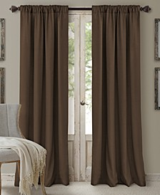 "Cachet 52"" x 84"" Faux Silk 3-in-1 Curtain Panel"