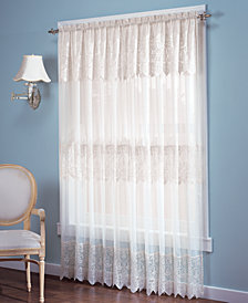 """No. 918 Joy Lace Curtain 60"""" x 63"""" Panel with Attached Valance"""