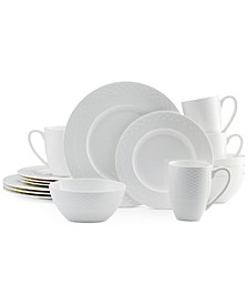 Dinnerware Bone China 16 Piece Dinnerware Set Collection, Service for 4