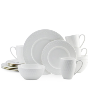 Mikasa Dinnerware Bone China Ortley 16 Piece Set Service for