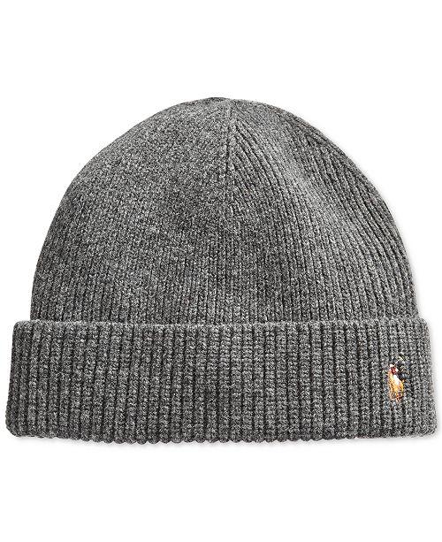 Polo Ralph Lauren Signature Merino Cuffed Beanie - Hats 1ab9d2d9957