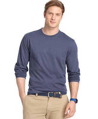Izod big and tall double crew neck long sleeve t shirt t for Izod big and tall shirts