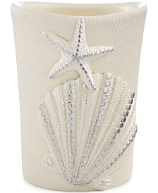Avanti Bath, Sequin Shells Tumbler