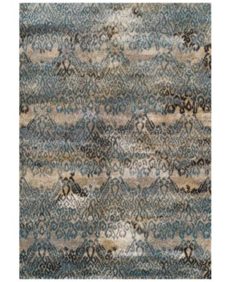 "CLOSEOUT! Modern Abstracts Salon Teal 3'3"" x 5'1"" Area Rug"