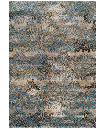 Dalyn Modern Abstracts Salon Teal Area Rugs