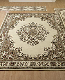 KM Home Roma Kerman Ivory 3-Pc. Rug Set