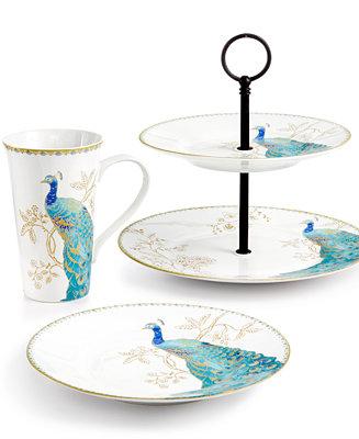 222 Fifth Peacock Garden Serveware Collection - Serveware - Dining & Entertaining - Macy's
