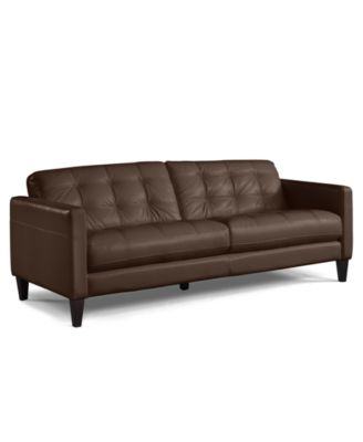 milan leather sofa