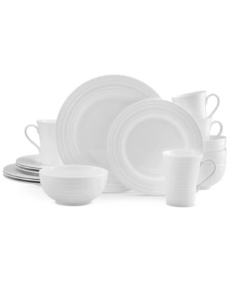 Product Details. Shimmering white bone china ...  sc 1 st  Macyu0027s & Mikasa Dinnerware Bone China Ciara 16 Piece Set Service for 4 - Fine ...