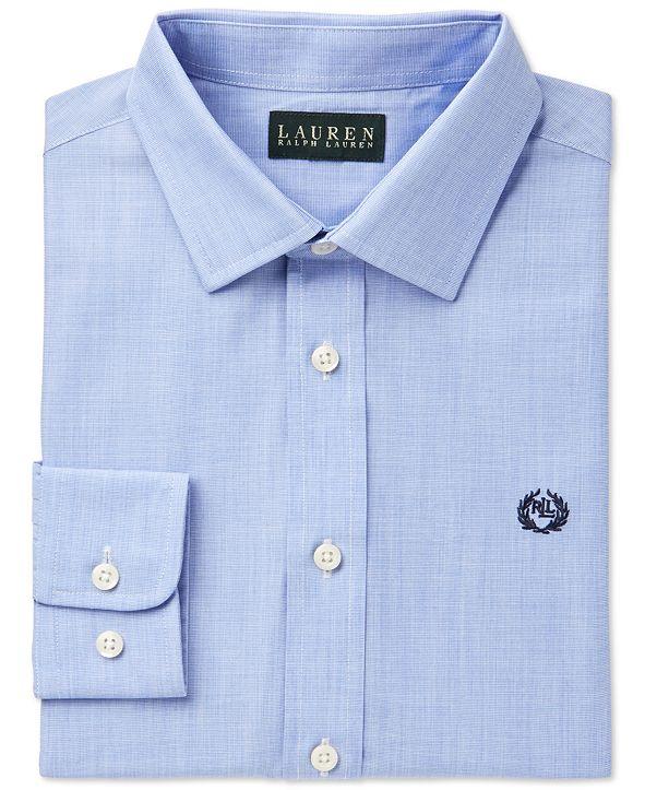 Lauren Ralph Lauren Solid Dress Shirt, Big Boys
