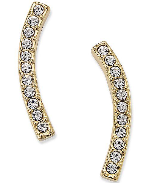Danori Gold-Tone Pavé Ear Crawler Earrings
