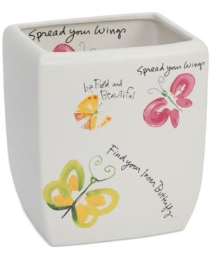 Creative Bath Flutterby Wastebasket Bedding