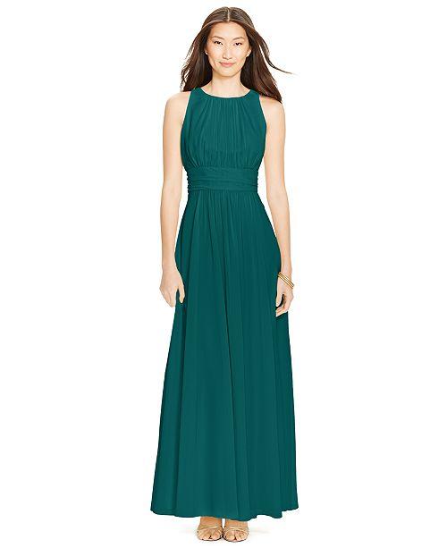 7fea17d1686a2 Lauren Ralph Lauren Sleeveless Ruched Gown   Reviews - Dresses ...