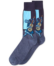 Hot Sox Men's Socks, Old Guitarist Crew