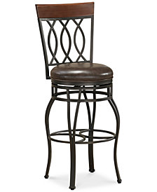 Bella Faux Leather Bar Height Bar Stool, Quick Ship