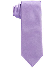 Calvin Klein Vellum Solid Satin Tie, Big Boys