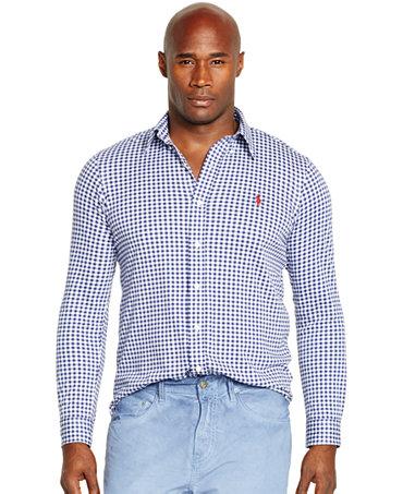 Polo Ralph Lauren Big Tall Gingham Knit Dress Shirt