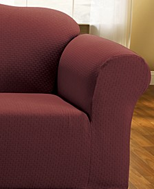 Simple Stretch Subway Tile Loveseat Furniture Slipcover