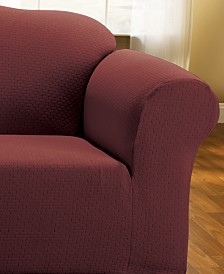 Sure Fit Simple Stretch Subway Tile Loveseat Furniture Slipcover
