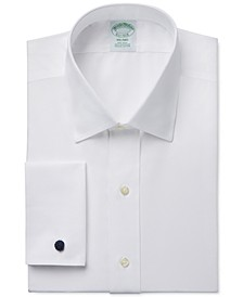 Milano Extra-Slim Fit Non-Iron White Solid French Cuff Dress Shirt