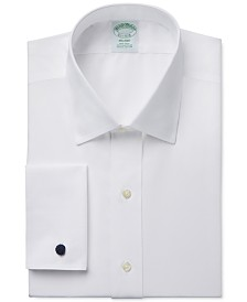 Brooks Brothers Milano Extra-Slim Fit Non-Iron White Solid French Cuff Dress Shirt