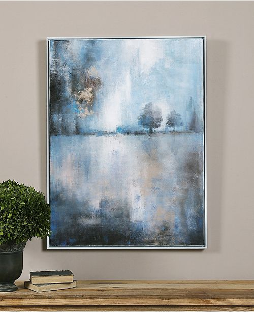 uttermost framed canvas lake at dusk wall art wall art macy s
