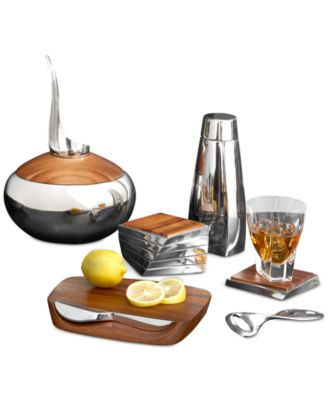 Nambe Barware Blend Bar Board with Knife